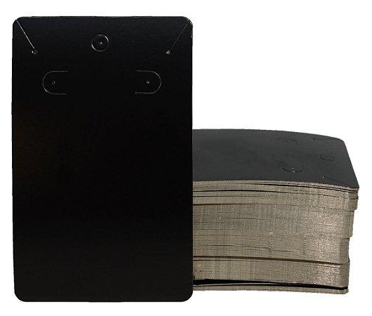 Cartela Para Brinco e Corrente - Conjunto -  75 X 120 - Preto C34