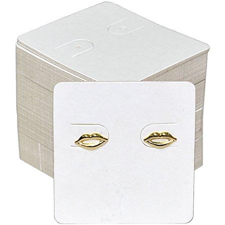 Cartela Para 1 Par de Brincos - 39 x 44 - Branca C60