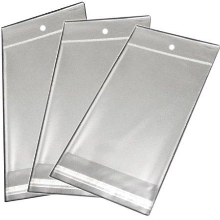 Saquinho Plástico Adesivado - 5X22 com furo