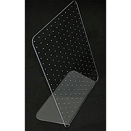 Expositor em Acrilico Para Brinco 204 Furos A22 - Incolor Cristal