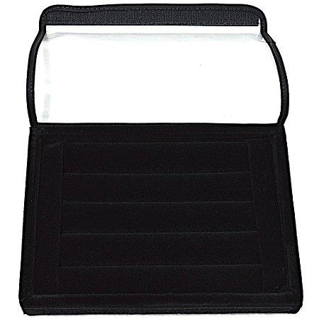 Bandeja Mini Para Anel - Até 42 Anéis - Modelo Rolinho Veludo Com capa
