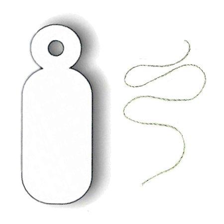Etiqueta Com Linha SOLTA Para Colocar Preço Em Joias 0,8 x 2,2 cm - E16S - 1000 Unidades