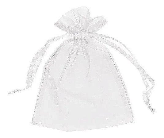 Saquinhos de Organza 7X9 cm Branco - 50 Unidades