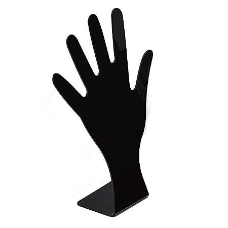 Expositor Acrílico Para Anel Formato de Mão A119 - Preto