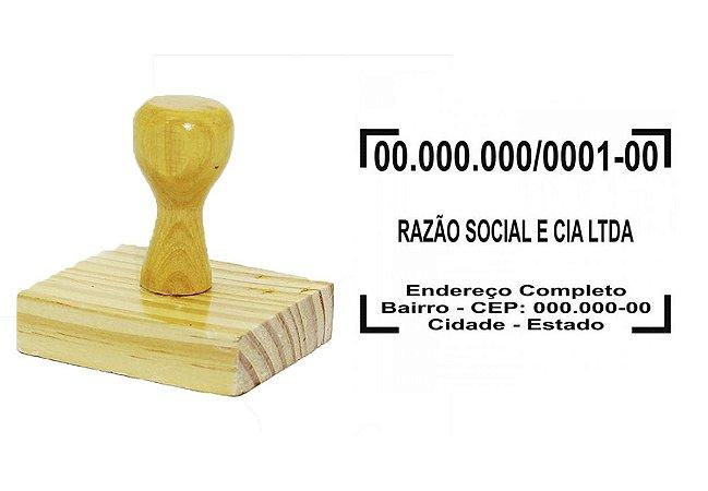 Carimbo CNPJ em madeira 40x60mm