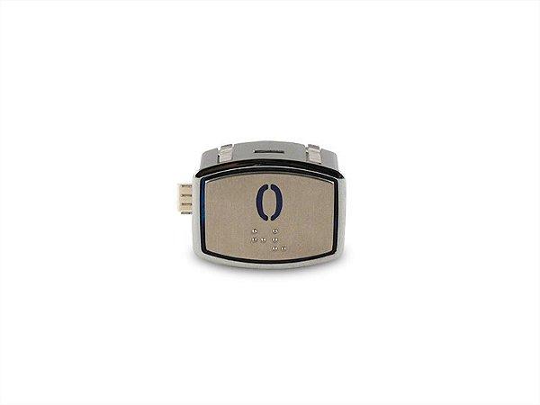 BOTAO AK30 BLUE LED - BRAILLE - 24VDC Nº 0