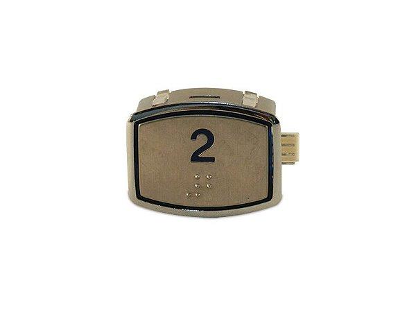 BOTÃO AK30 BLUE LED - BRAILLE - 24VDC Nº 2 (BOTAO 2)