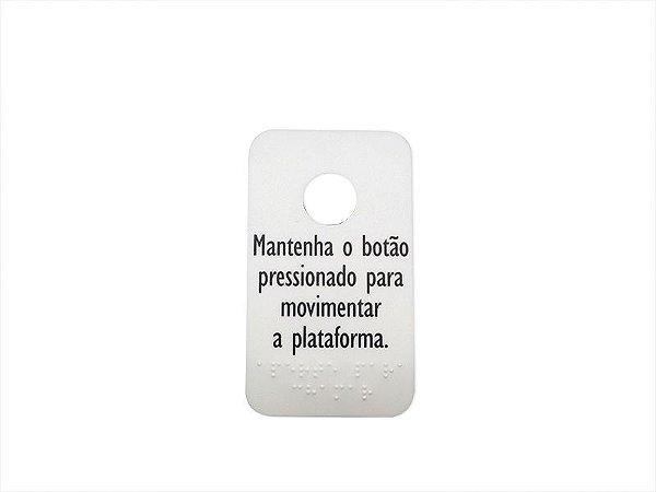 52206R - ADESIVO BOTÃO DE CHAMADA PORTA AC08 BRAILE