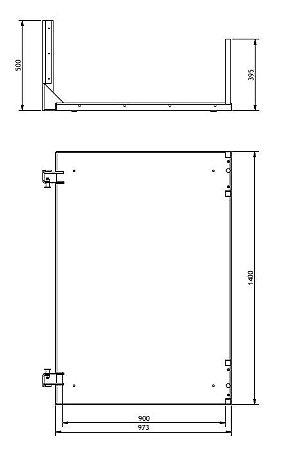 Conjunto Base para plataforma fuso 900 x 1400