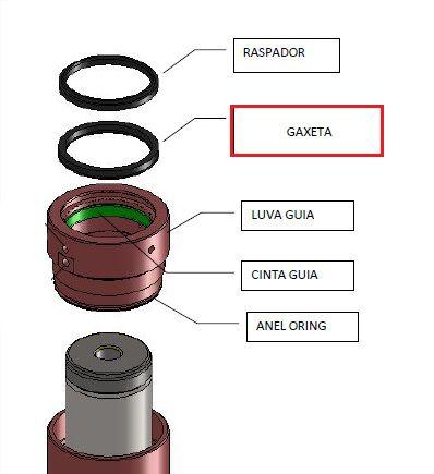 GAXETA MOLYTHANE(mm) ØINT90 ØEXT102 Alt.9mm SECÇÃO 6mm (55369)