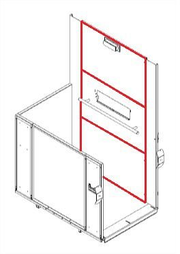 KIT PAINEL CENTRAL AC11 (para bases 900X1400MM/1100X1400MM)