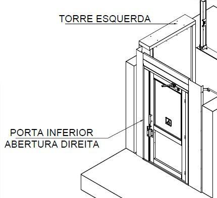 48012 - AC02 PORTA DIREITA TORRE ESQUERDA