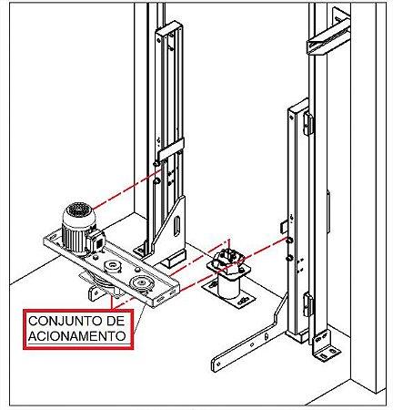CONJUNTO ACIONAMENTO FUSO COMPLETO ( AC14-A-D7988 CARRO )