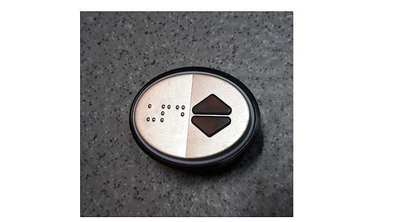 49311R - EQUINOX BUTTON 1 CONTACT 24 V BLUE ILLUM DEC (DOUB ARROW) DM