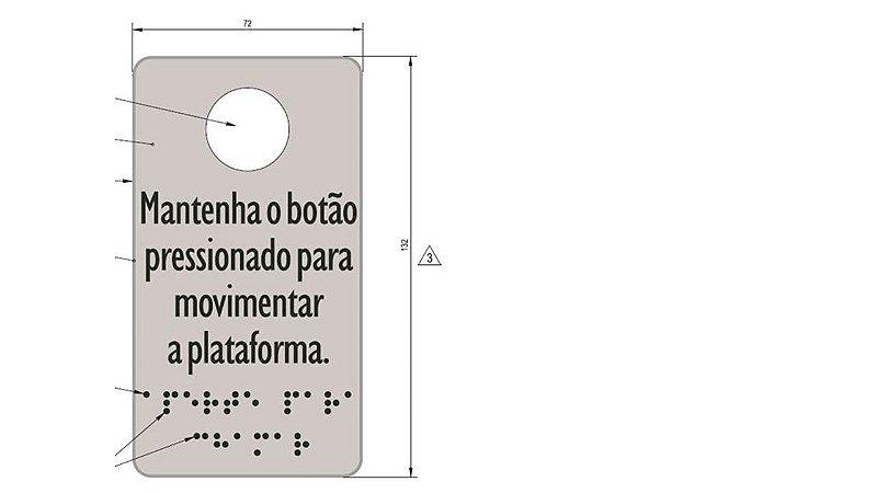58697 - ADESIVO MENOR BOTÃO DE CHAMADA PORTA AC08/AC11 (BRAILE) ( 72 x 132)