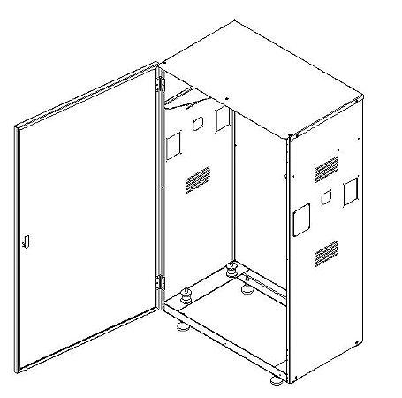 UH01-E-D7994 - KIT GABINETE UNIDADE HIDRÁULICA HL (MONTÁVEL)