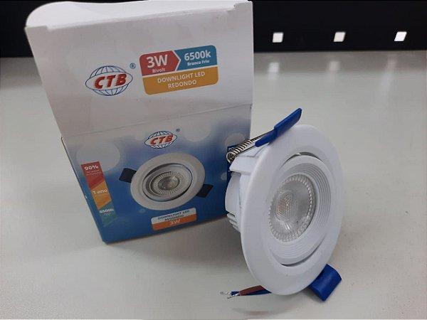 SPOT LED-3x1W- BLDS-3B 3W BR(BRANCO REDONDO)