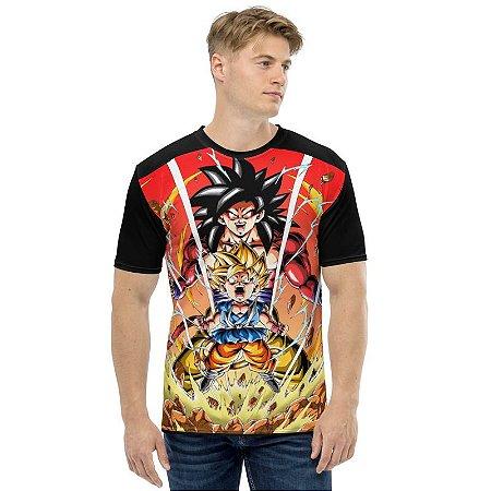 DRAGON BALL GT - Goku Evolução - Camiseta de Animes