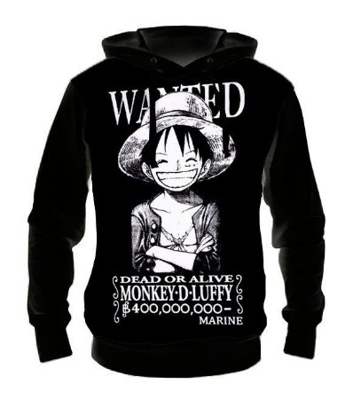 ONE PIECE - Luffy Wanted - Casaco de Moletom Animes