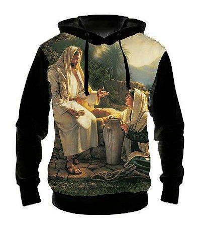 RELIGIOSOS - Jesus e Samaritana - Casaco de Moletom Variados