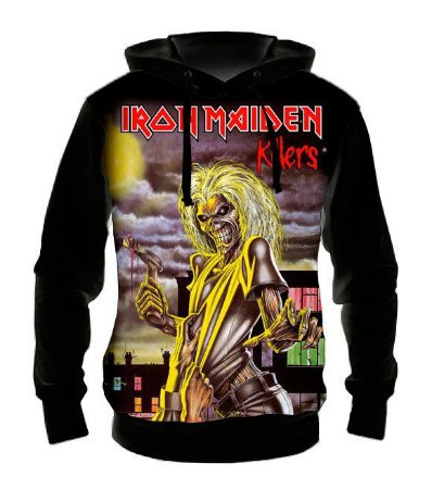 IRON MAIDEN - Killers - Casaco de Moletom Rock Metal