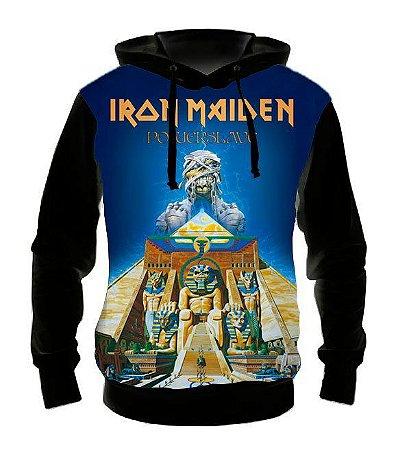 IRON MAIDEN - Power Slave - Casaco de Moletom Rock Metal