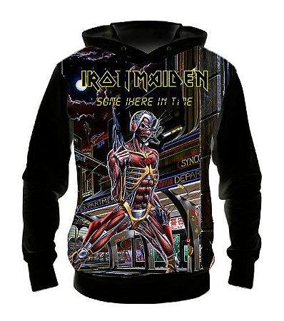 IRON MAIDEN - Somewere in Time - Casaco de Moletom Rock Metal