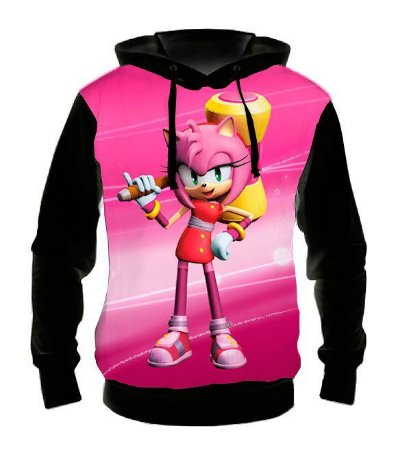 SONIC - Amy Rose - Casaco de Moletom Games