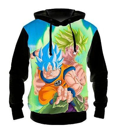 DRAGON BALL SUPER - Broly versus Goku - Casaco de Moletom Animes