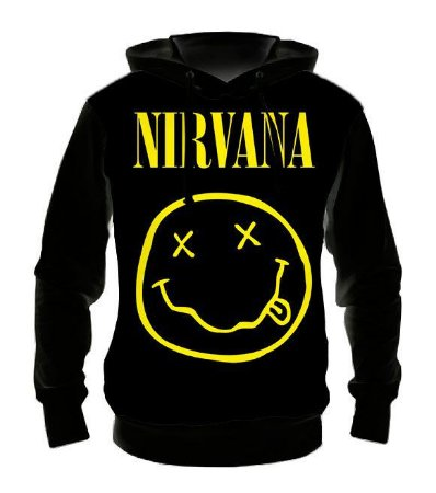 NIRVANA - Casaco de Moletom Rock Metal