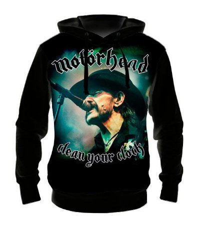 MOTORHEAD - Lemmy Kilmister - Casaco de Moletom Rock Metal