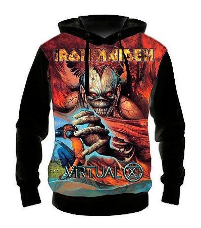 IRON MAIDEN - Virtual XI - Casaco de Moletom Rock Metal