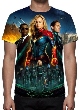 MARVEL - Capitã Marvel Modelo 4 - Camiseta de Cinema