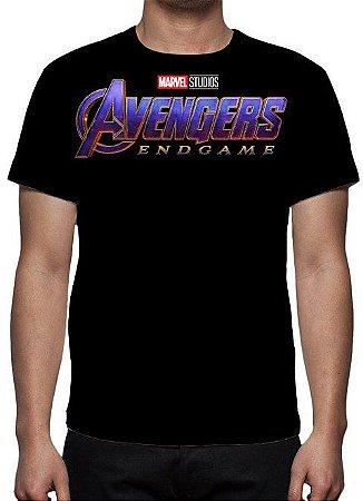 MARVEL - Vingadores - Ultimato Logo End Game - Camiseta de Cinema