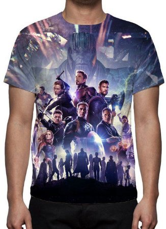 773f6f936 MARVEL - Vingadores Ultimato Modelo 3 - Camiseta de Cinema ...