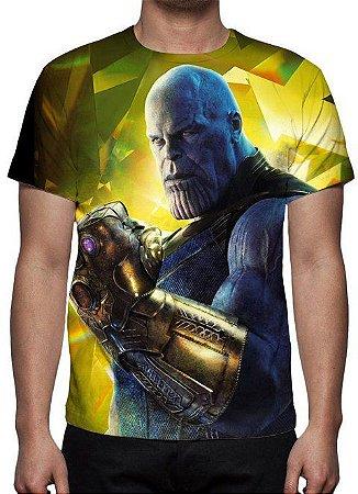 MARVEL - Vingadores Guerra Infinita - Thanos Modelo 2 - Camiseta de Cinema
