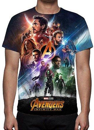 MARVEL - Vingadores Guerra Infinita - Modelo 4 - Camiseta de Cinema