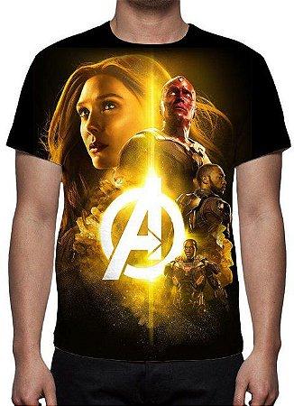 MARVEL - Vingadores Guerra Infinita - Joias Modelo 5 - Camiseta de Cinema