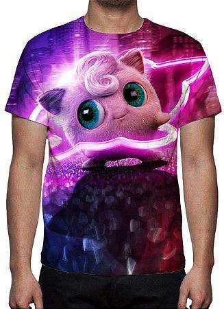 POKEMON - Detetive Pikachu Jigglypuff - Camiseta de Cinema