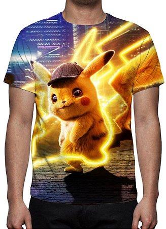 POKEMON - Detetive Pikachu - Modelo 2 - Camiseta de Cinema