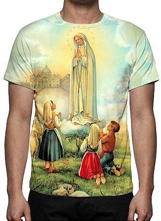 RELIGIOSOS - Nossa Senhora de Fátima Modelo 1 - Camiseta Variada