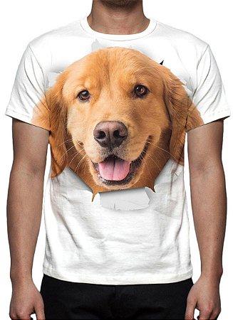 ANIMAIS - Cão Golden Retrivier - Camisetas Variadas