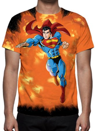 DC COMICS - Supeman Modelo 1 - Camiseta de Desenhos