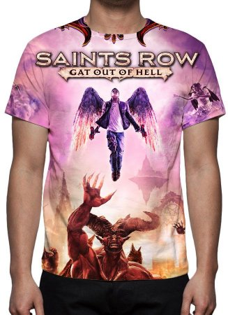 SAINTS ROW - Gat Out of Hell - Camiseta de Games