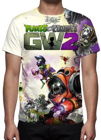 PLANTS VS ZOMBIES - Garden Warfare 2 Modelo 2 - Camiseta de Games