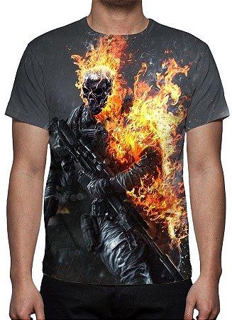 BATTLEFIELD 4 - Caveira - Camiseta de games