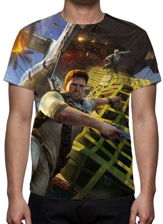 UNCHARTED 3 - Drakes Deception Modelo 1 - Camiseta de Games