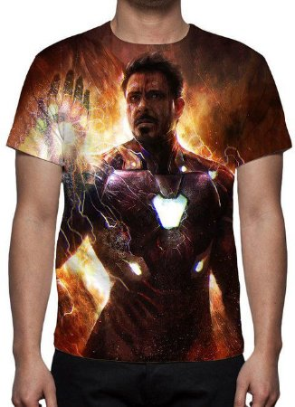 MARVEL - Vingadores Eu Sou o Homem de Ferro - Camiseta de Cinema
