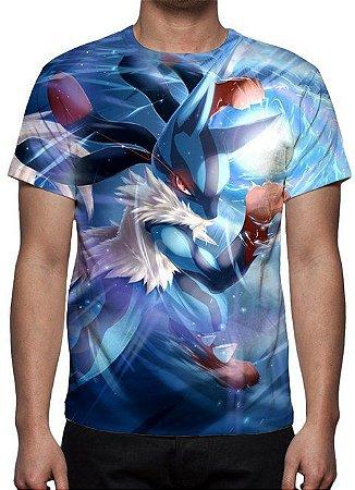 POKÉMON - Lucario Modelo 2 - Camiseta de Animes