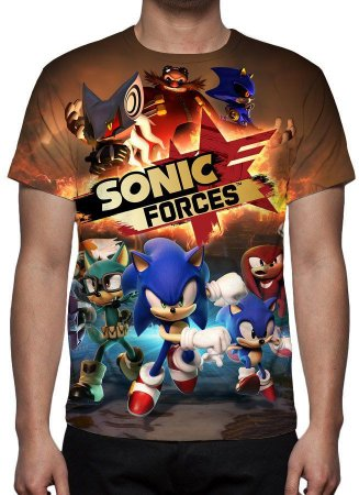 SONIC - Sonic Forces - Camiseta de Games